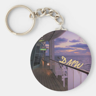 Morning on Deck Personalized Keychain