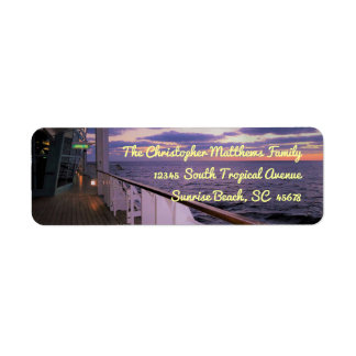 Morning on Deck Personalized Label