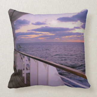 Morning on Deck Throw Pillow