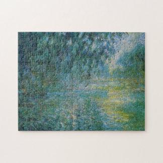 Morning on Seine in Rain Monet Fine Art Jigsaw Puzzle