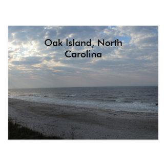 Morning on the Beach - Oak Island, NC Postcard