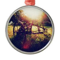 Morning On The Farm Metal Ornament