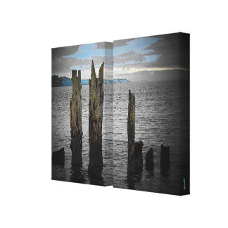 Morning on the Puget Sound by djoneill Canvas Print