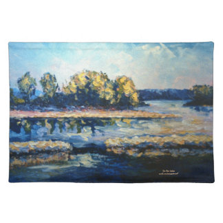Morning on the River Cloth Place Mat