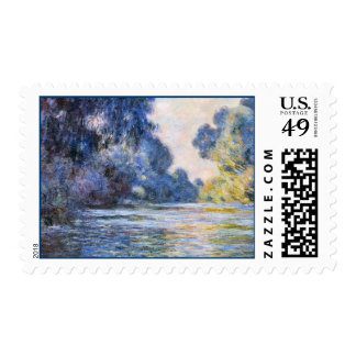 Morning on the Seine at Giverny Monet Fine Art Postage