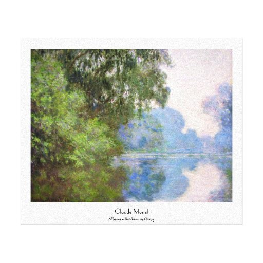 Morning on the Seine near Giverny Claude Monet Gallery Wrapped Canvas