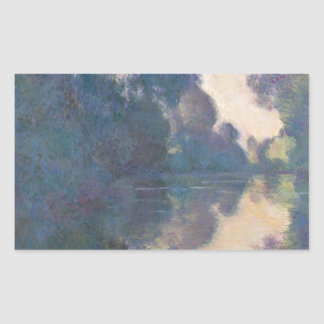 Morning on the Seine near Giverny - Claude Monet.j Rectangular Sticker