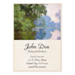 Morning on the Seine near Giverny Claude Monet Large Business Cards (Pack Of 100)