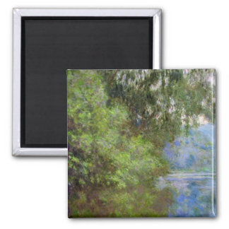 Morning on the Seine near Giverny Claude Monet 2 Inch Square Magnet