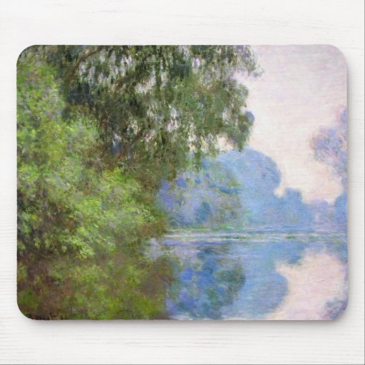 Morning on the Seine near Giverny Claude Monet Mouse Pad