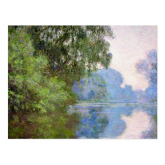 Morning on the Seine near Giverny Claude Monet Postcard