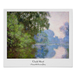 Morning on the Seine near Giverny Claude Monet Print