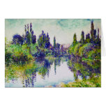 Morning on the Seine, near Vetheuil Claude Monet Stationery Note Card