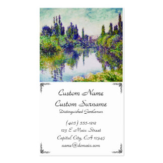 Morning on the Seine, near Vetheuil Claude Monet Double-Sided Standard Business Cards (Pack Of 100)