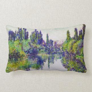 Morning on the Seine, near Vetheuil Claude Monet Pillow