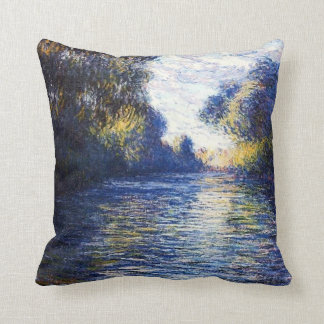 Morning on the Seine River American MoJo Pillows