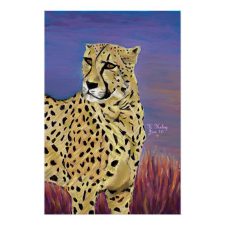 Morning on the Serengeti poster