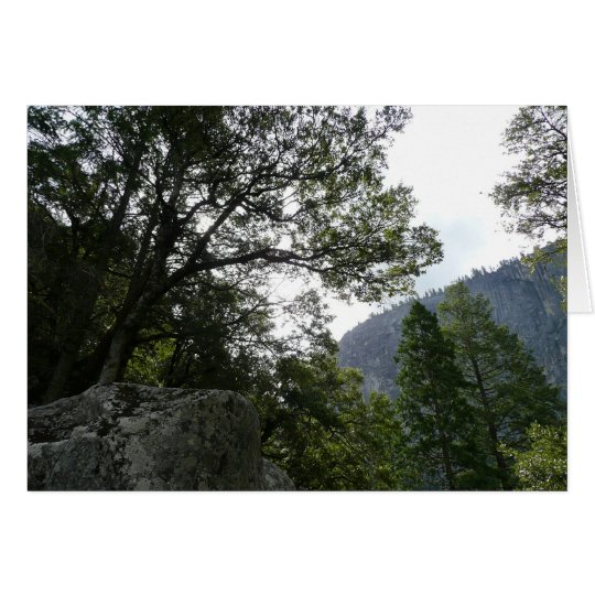 Morning on the Trail to Vernal Falls in Yosemite Card