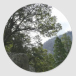Morning on the Trail to Vernal Falls in Yosemite Classic Round Sticker