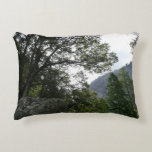 Morning on the Trail to Vernal Falls in Yosemite Decorative Pillow