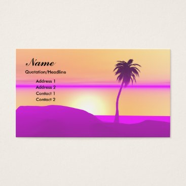 Professional Business Morning Palm - Business Business Card