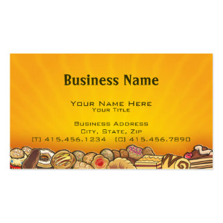 morning pastries ~ bc Double-Sided standard business cards (Pack of 100)