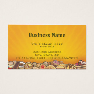 morning pastries ~ bc business card