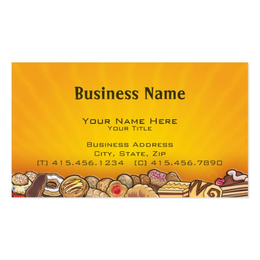 morning pastries ~ bc business cards (front side)