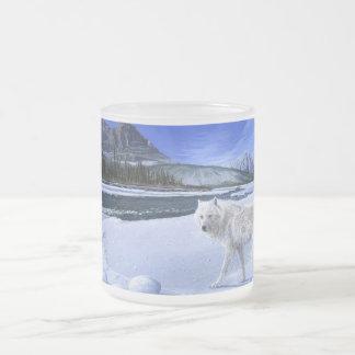 Morning Patrol white wolf river mug