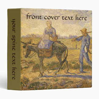 Morning: Peasant Couple Going to Work by van Gogh 3 Ring Binder