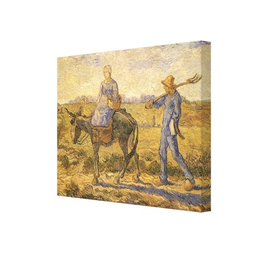 Morning: Peasant Couple Going to Work by van Gogh Stretched Canvas Prints