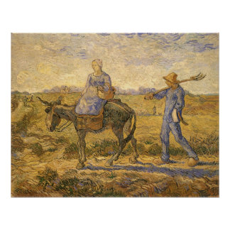 Morning: Peasant Couple Going to Work by van Gogh Posters