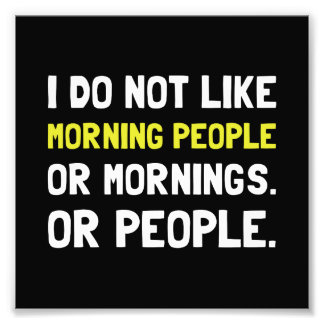 Morning People Photo Print
