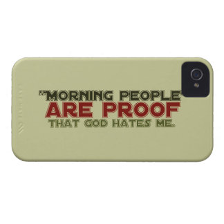 Morning People - Proof God Hates Me iPhone 4 Case-Mate Case