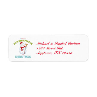 Morning Person on Christmas Return Address Labels