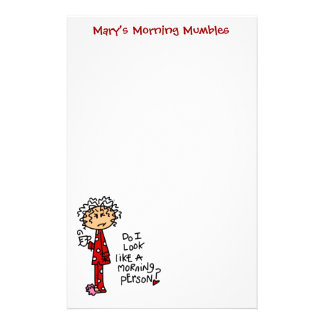 Morning Person? Stationery