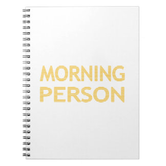 MORNING PERSON - strips - black and white. Notebook