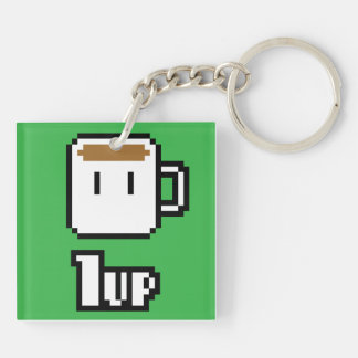 Morning Power-Up Green Keychain