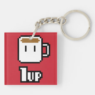 Morning Powerup Red Keychain