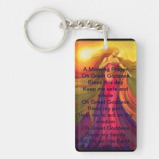 Morning Prayer Acrylic Key Chain