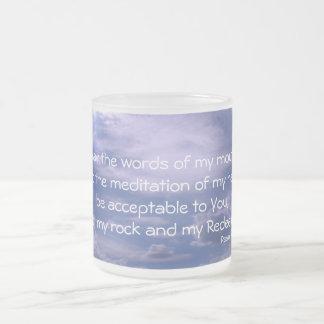 Morning prayer frosted glass coffee mug