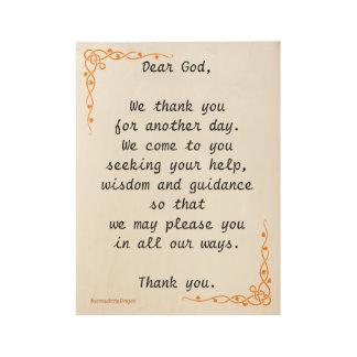 Morning Prayer Wood Poster