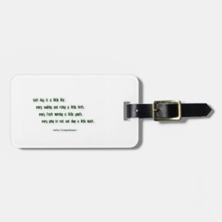 Morning Quote by Arthur Schopenhauer Luggage Tag