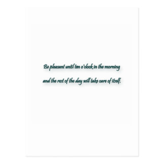 Morning Quote by Elbert Hubbard Postcard