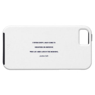 Morning Quote by Jonathan Swift - I never knew ... iPhone 5 Covers