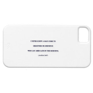 Morning Quote by Jonathan Swift - I never knew ... iPhone 5 Cover
