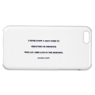 Morning Quote by Jonathan Swift - I never knew ... iPhone 5C Cover
