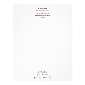 Morning Quote by Victor Hugo - He, who every ... Letterhead