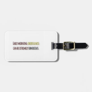 Morning Quote by William Feather Luggage Tag