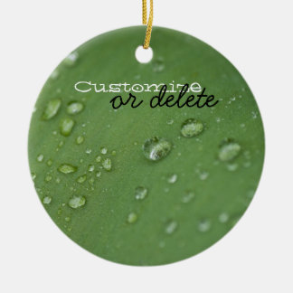 Morning Rain; Customizable Ceramic Ornament